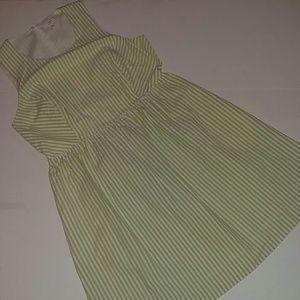 Crown & Ivy Sage and White Stripe Dress 12